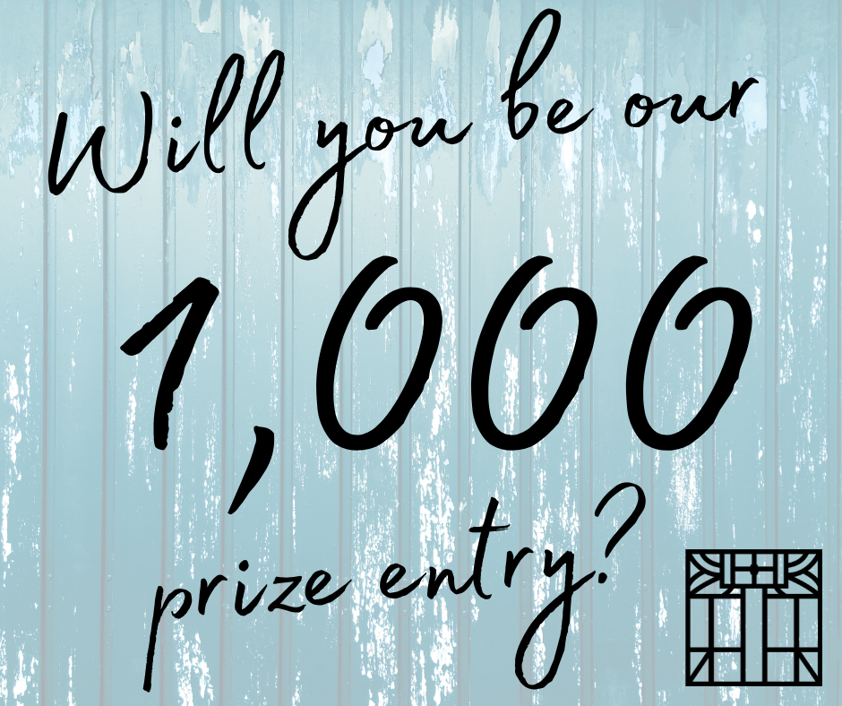 "A photo with a blue wood background saying ""Will you be our 1,000 prize entry?"" with the EPL Logo in the corner"