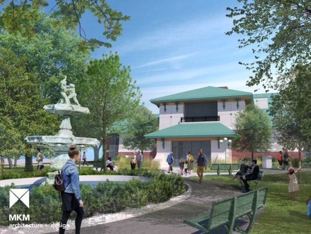 Eckhart Public Library New Library Entrance Rendering